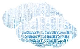 Merry Christmas word cloud - Merry Christmas on English language and other different languages. Merry Christmas word cloud - Merry Christmas on English language royalty free stock image