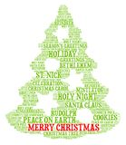 Merry Christmas - Word cloud illustration. Background for Holiday Season Royalty Free Stock Images