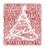 Merry Christmas - Word cloud illustration. Background for Holiday Season Royalty Free Stock Photos