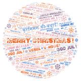 Merry Christmas word cloud - Merry Christmas on English language and other different languages. Merry Christmas word cloud - Merry Christmas on English language royalty free illustration