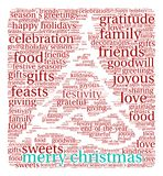 Merry Christmas Word Cloud. On a white background Stock Image