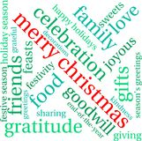 Merry Christmas Word Cloud. On a white background Royalty Free Stock Images