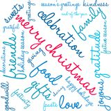 Merry Christmas Word Cloud. On a white background Stock Photo