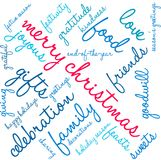 Merry Christmas Word Cloud. On a white background Royalty Free Stock Photo