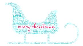 Merry Christmas Word Cloud. On a white background Royalty Free Stock Image