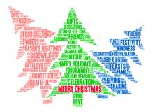 Merry Christmas Word Cloud. On a white background Royalty Free Stock Photography