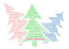 Merry Christmas Word Cloud. On a white background Stock Photography
