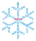 Merry Christmas Word Cloud. On a white background Stock Photos