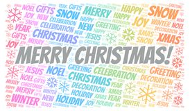 Merry Christmas! word cloud royalty free illustration