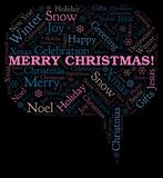 Merry Christmas! word cloud vector illustration
