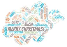 Merry Christmas! word cloud. Wordcloud made with text only royalty free illustration