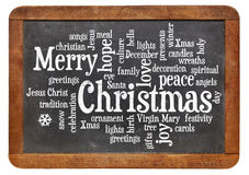 Merry Christmas word cloud Stock Image