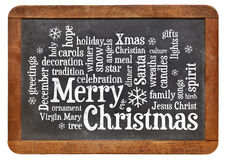 Merry Christmas word cloud Royalty Free Stock Images