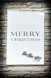 The merry christmas word on the crumpled paper Stock Image