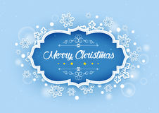 Merry Christmas Word in Winter Background Royalty Free Stock Photos