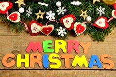 Merry Christmas word Stock Image