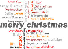 Merry Christmas words Stock Photography