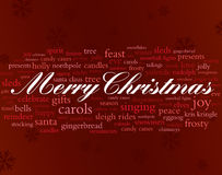 Merry christmas words. Merry christmas and other holiday words Stock Photography