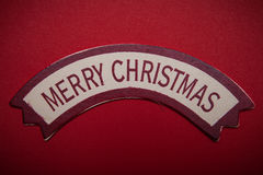 Merry Christmas words on banner Royalty Free Stock Photography