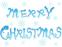 Merry christmas words Royalty Free Stock Images