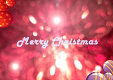 Merry Christmas in the World. Merry Christmas decoration of the bokeh as colored background Royalty Free Stock Image
