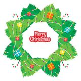 Merry Christmas Wreath Decoration Royalty Free Stock Photos