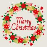 Merry Christmas Wreath Royalty Free Stock Photos