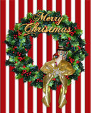 Merry Christmas Wreath gold text Royalty Free Stock Images