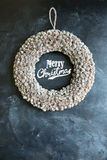 Merry Christmas wreath Royalty Free Stock Photography