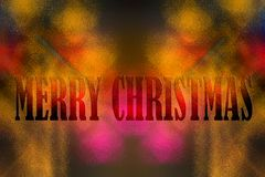 Merry Christmas written on a abstract colorful back ground. And the happy new year stock illustration