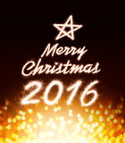 Merry christmas 2016 Stock Images