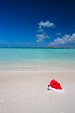 Merry Christmas written on tropical beach white Royalty Free Stock Image
