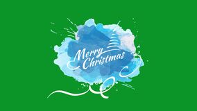 Merry christmas written on watercolour stains