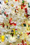 Merry christmas, xmas tree with decor closeup Royalty Free Stock Photos