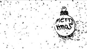 Merry christmas. Xmass globe illustration Royalty Free Stock Photography