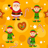 Merry Christmas Yellow Seamless Pattern Royalty Free Stock Photography