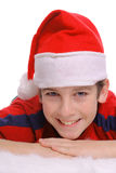 Merry Christmas young boy smile vertical Stock Image