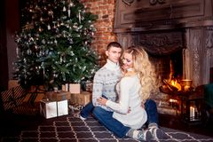 Download 27 Merry Christmas Young Couple Celebrating New Year Home Man Woman Fireplace Stock Photos for FREE or amazingly low rates! New users enjoy 60% OFF. 75