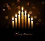 Merry christmass candles eps 10 Stock Photos