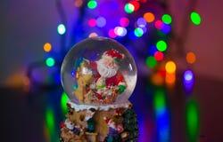 Merry Christmass. Christmas Snow globe Snowflake with bokeh background.Christmas Snow globe Snowflake close-up Royalty Free Stock Photo