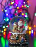 Merry Christmass. Christmas Snow globe Snowflake with bokeh background.Christmas Snow globe Snowflake close-up Royalty Free Stock Photos