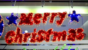 Merry christmass Text Element decoration stock footage