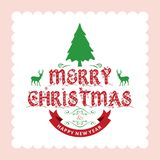 Merry Chrsimtas with light background. For web design and application interface, also useful for infographics. Vector illustration Stock Photos