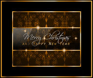 2016 Merry Chrstmas and Happy New Year Background Royalty Free Stock Image