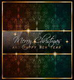 2016 Merry Chrstmas and Happy New Year Background. For your dinner invitations, festive posters, restaurant menu cover, book cover,promotional depliant, Elegant Royalty Free Stock Images
