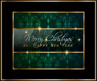 2016 Merry Chrstmas and Happy New Year Background. For your dinner invitations, festive posters, restaurant menu cover, book cover,promotional depliant, Elegant Royalty Free Stock Photography