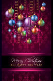 2016 Merry Chrstmas and Happy New Year Background. For your dinner invitations, festive posters, restaurant menu cover, book cover,promotional depliant, Elegant Royalty Free Stock Photo