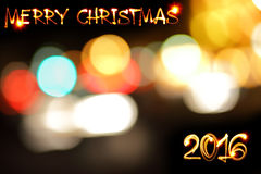 Merry Chrtistmas 2016 Royalty Free Stock Photography