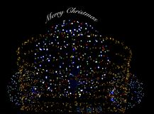 Merry Christmas illustration with colour lights. Merry Chtistmas illustration made of colour light diodes Royalty Free Stock Photography