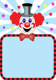 Merry clown with paper Royalty Free Stock Photos